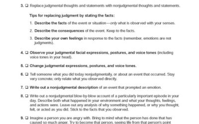 DBT Skills – Ideas for Practicing Nonjudgmentalness